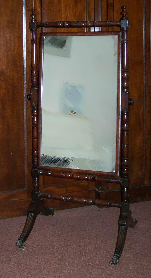 Regency Mahogany Cheval Mirror For Sale 163 850 Gbp